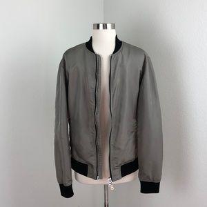 Forever 21 men gray bomber jacket